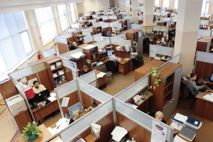office that has been cleaned by commercial cleaners