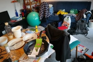 Messy home needing cleaned and tidied